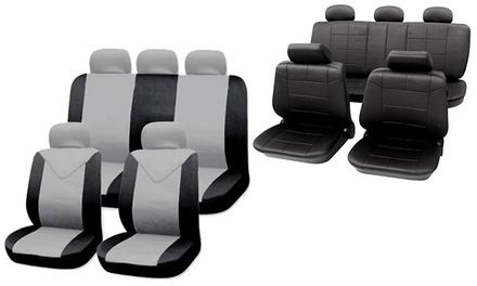 Universal Auto-Sitzbezüge in Leder-Optik oder einfarbig