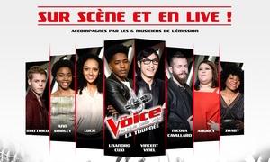 """Tournée The Voice: 1 place pour la tournée """"The Voice"""", catégorie au choix, le dimanche 2 juillet 2017, dès 16,50 € au Sceneo"""