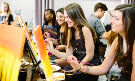 $25 for Admission for One to Painting Class at Wine & Design ($35 Value)