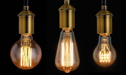 Vintage Decorative Edison Filament Light Bulbs in Screw or Bayonet Fitting