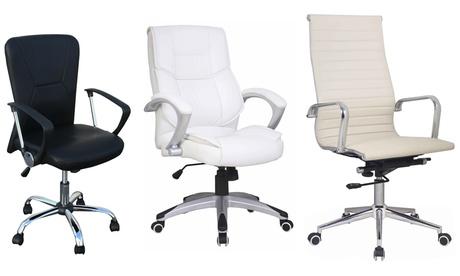 Silla giratoria para oficina ECO-DE® con respaldo y asiento ajustables disponibles en 5 modelos y en diferentes colores Oferta en Groupon