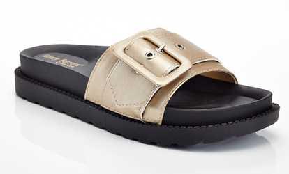 3af25cb3940 Shop Groupon Berkin Women s Slip-On Sandals with Belt Buckle Design
