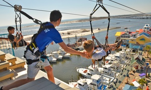 HarborWalk Adventures - Zip Line: Four-Hour Pass for One, Two, or Four at HarborWalk Adventures (Up to 60% Off)