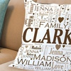 Up to 50% Off Personalized Family Word Art Pillows