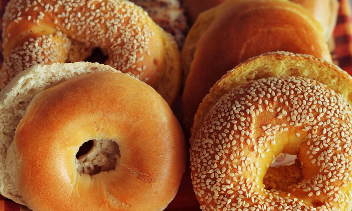 Sunshine Bagel Bakery - Boise City: One Dozen Bagels and Two Tubs of Cream Cheese, or Two Sandwich Combos at Sunshine Bagel Bakery (Up to 50% Off)
