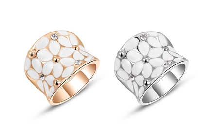 1 o 2 anillos Daisy de oro de 18 quilates
