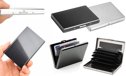 One, Two or Four Anti-RFID Stainless Steel Card Holders