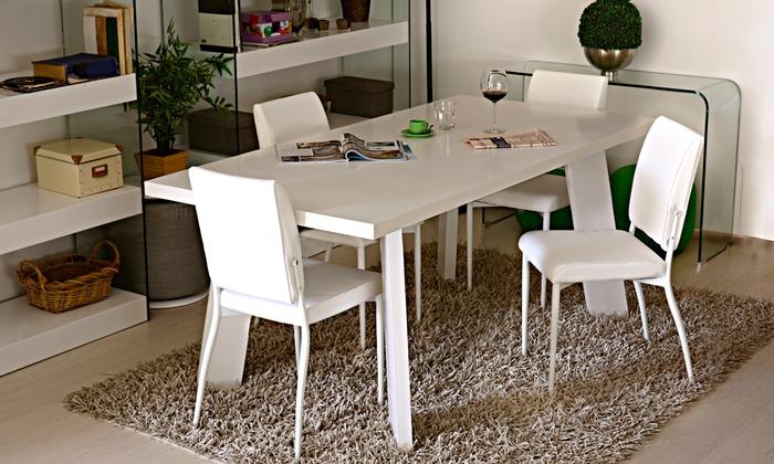 Tavolo con 4 sedie Elettra | Groupon Goods