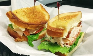Front Page Deli: Gourmet Sandwiches and Burgers or Catering at Front Page Deli (Up to 42% Off). Three Options Available.