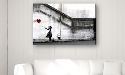 Banksy Printed Canvas Collection