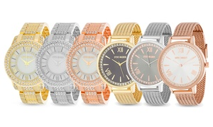 Steve Madden Crystal Dial Link or Mesh Band Watch
