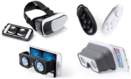Gafas de realidad virtual y Gamepad