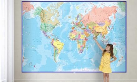 Mappe del mondo da muro disponibili in 3 modelli