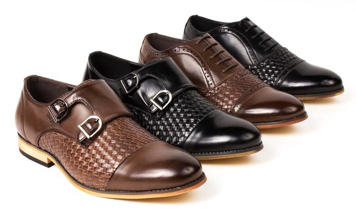Gino Pheroni Men's Woven Oxford Shoes
