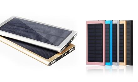 Batterie externe solaire 20000mAh, coloris au choix