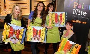 Paint Nite UK: Ticket to Paint Nite Painting Social, April - September, Multiple Locations (Up to 44% Off)