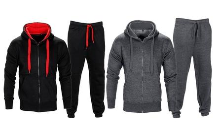 Chándal de lana para hombre con capucha y cintura con cordón