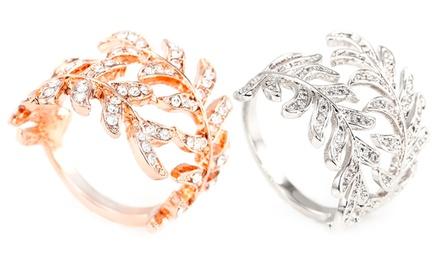Womens Leaf Ring