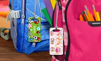 Groupon Kids Personalized Luggage Tags Up To 72