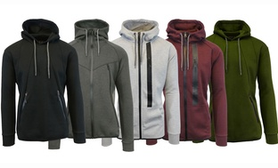 Galaxy by Harvic Mens Marled Tech Fleece Hoodie