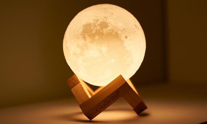 Groupon Goods Global GmbH: One or Two GloBrite Touch Control LED 3D Moon Lamps