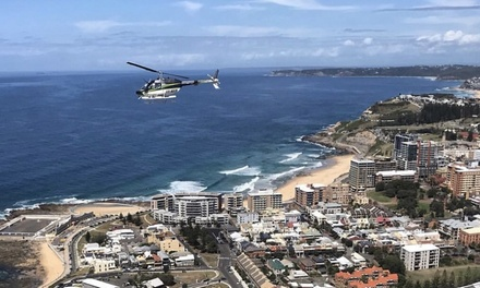 Helicopter Tour 3 People: Skyline and Surf $359 or Coastal Rush $429 with HeliServices Newcastle & Hunter