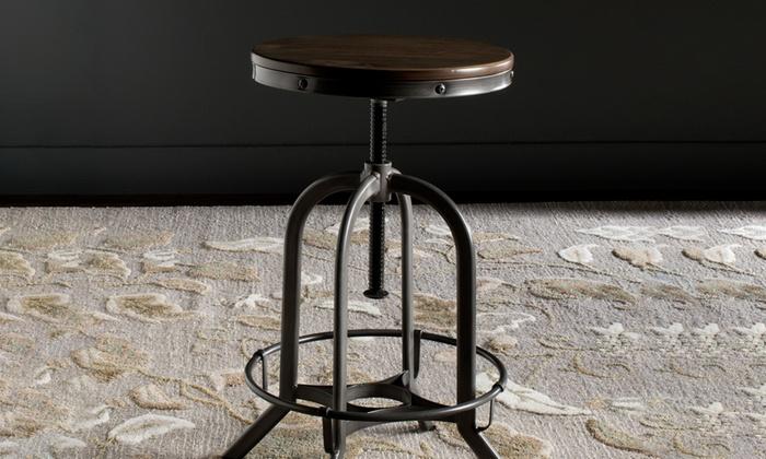 chaise de bar r glable groupon. Black Bedroom Furniture Sets. Home Design Ideas