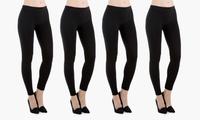 4-Pack Sociology Womens Fleece-Lined Leggings
