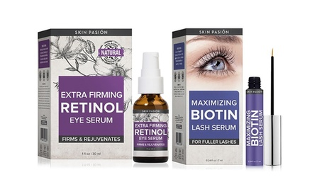 Extra Firming Retinol Eye and Biotin Lash Serum Set: One $29 or Two $49 Don't Pay up to $159.96
