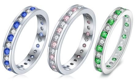 Sreema London Ring Ewigkeitsring mit simuliertem Diamant (Koln)
