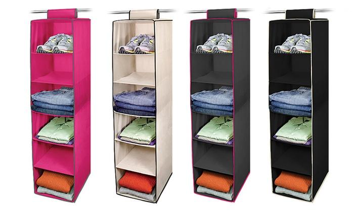 6-Shelf Hanging Closet Organizer: 6-Shelf Hanging Closet Organizer.
