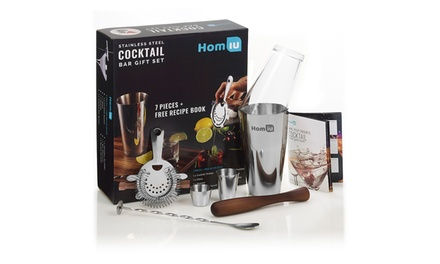 Homiu Seven-Piece Stainless Steel Cocktail Bar Gift Set