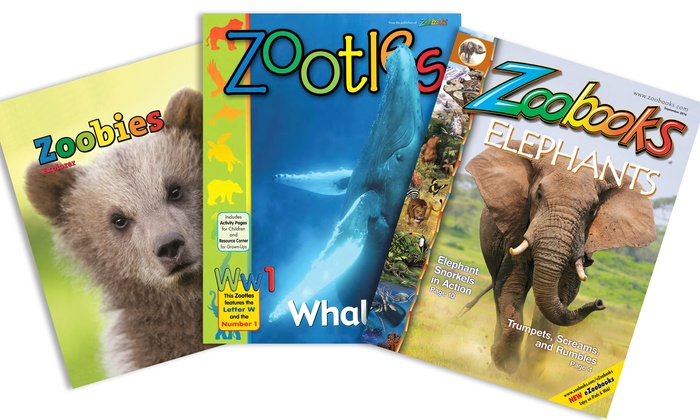 "Wildlife Education: One- or Two-Year Subscription to ""Zoobooks,"" ""Zootles,"" or ""Zoobies"" Magazine (Up to 75% Off)"
