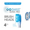Go Smile Sonic Pro Replacement Brush Heads (4-Pack)
