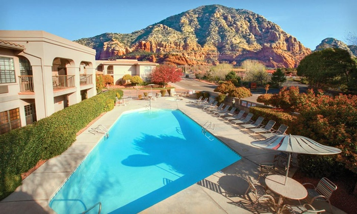 null - Phoenix: Stay at Sedona Real Inn & Suites in Arizona. Dates into August Available.