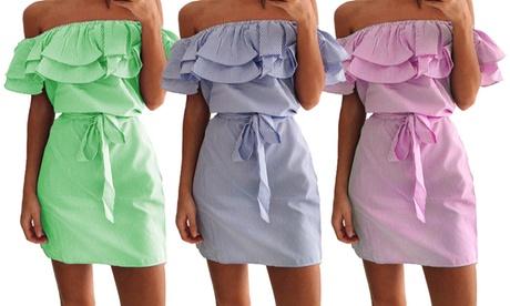 Vestido corto Arandelle fabricado 100% en algodón