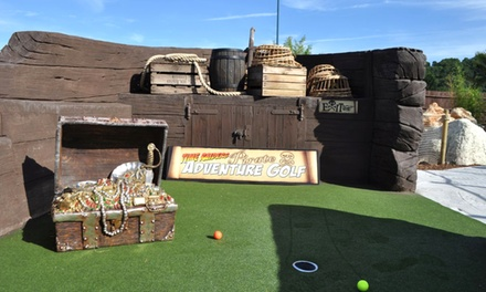 Adventure Golf for Two or Four at Time Raiders Pirate Adventure Golf