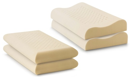 Set di 2 cuscini Made in Italy in memory foam air forato anallergici e traspiranti disponibili in 2 modelli