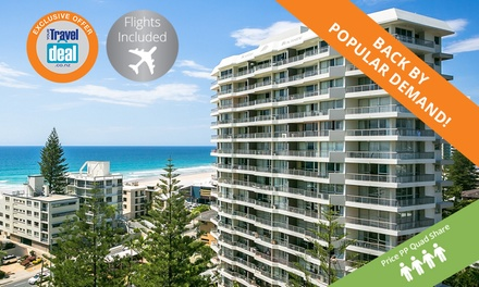 Surfers Paradise: From $349 Per Person (Quad Share) for 5 Nights with Flights at Surfers Beachside Holiday Apartments