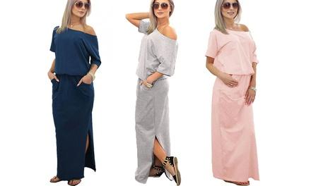 Vestito maxi Coco da donna disponibile in 5 colori e varie taglie