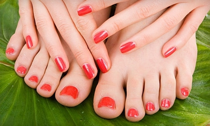 Lon Michaels Wellness Spa & Salon - Oakmont: Shellac Manicure or Spa Mani-Pedi at Lon Michaels Wellness Spa & Salon (Half Off)