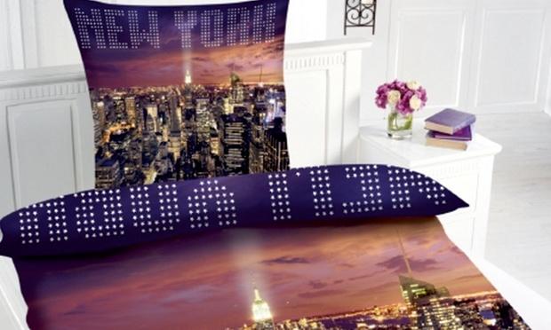 motiv bettw sche skyline new york groupon goods. Black Bedroom Furniture Sets. Home Design Ideas