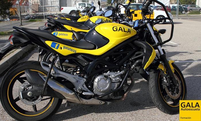 Autoescuela Gala - Varias localizaciones: Curso para obtener el carné de moto A1 o A2 con 5 o 7 prácticas desde 49 € en 50 centros de Autoescuela Gala