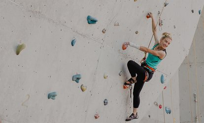 Day Pass with Gear for One or Two or 10-Punch Pass to Climb Woodlands (Up to 46% Off)