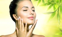 Organic Microcurrent Facial with Optional Microdermabrasion and Elastin at Aglow (Up to 63% Off)