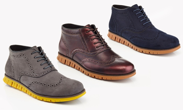 Henry Ferrera British Men's Oxford Lace-Up Boots
