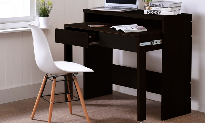 ausziehbarer schreibtisch groupon goods. Black Bedroom Furniture Sets. Home Design Ideas