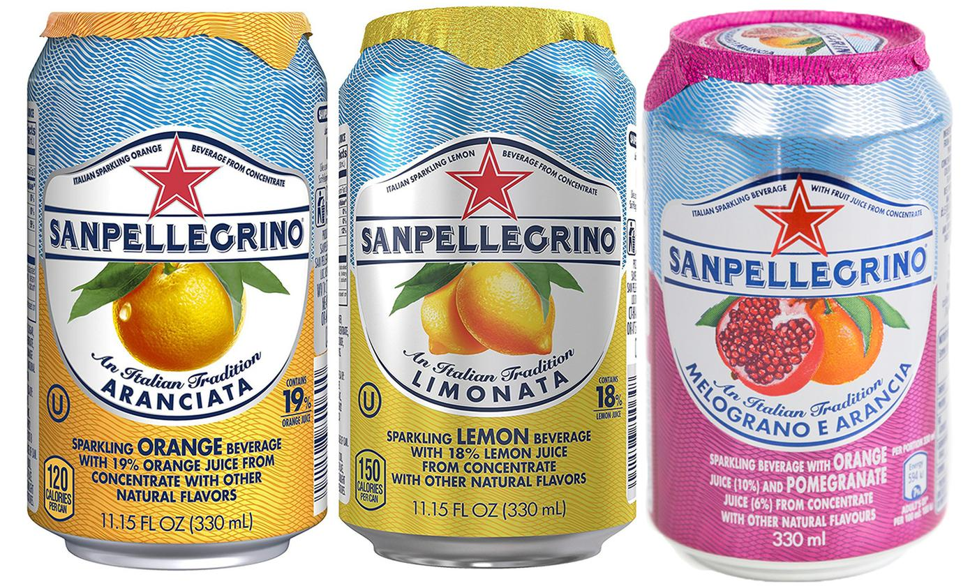 24 Cans of SanPellegrino Drink, 33cl