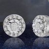 1/10 CTTW Diamond Stud Earrings in Sterling Silver