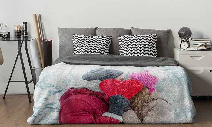 Custom Premium Plush Fleece Photo Blankets (Up to 87% Off)